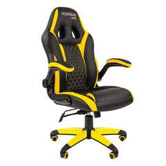 Кресло компьютерное СН GAME 15, экокожа, черное/желтое