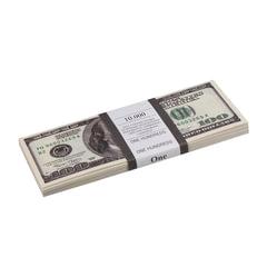 """Деньги шуточные """"100 долларов"""", упаковка с европодвесом"""