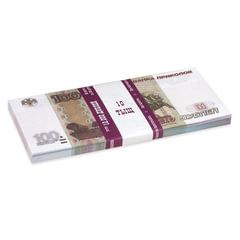 """Деньги шуточные """"100 рублей"""", упаковка с европодвесом"""
