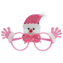 """Ободок карнавальный """"Розовый Снеговик"""", 19х12х3,5 см, полипропилен/нетканый материал"""