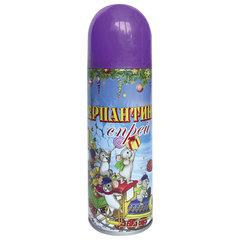 Серпантин синтетический в спрее, 250 мл, фиолетовый