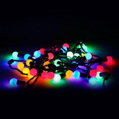 Электрогирлянда светодиодная УЛЬТРАЯРКАЯ, 50 ламп, 5 м, многоцветная, с контроллером