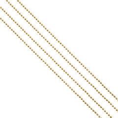 Бусы елочные (шарики), диаметр 4 мм, длина 2,7 м, золотистые