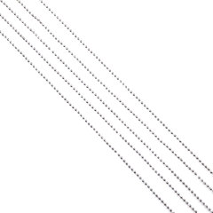 Бусы елочные, диаметр 4 мм, длина 2,7 м, серебристые