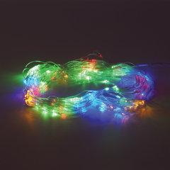 """Электрогирлянда светодиодная ЗОЛОТАЯ СКАЗКА """"Сеть"""", 160 ламп, 1,5х1,5 м, многоцветная, контроллер"""
