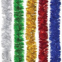 Мишура 1 штука, диаметр 70 мм, длина 2 м, ассорти 5 цветов
