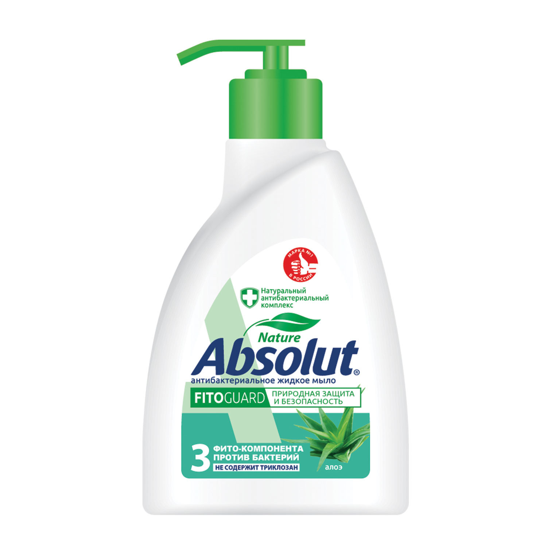 """Мыло жидкое 250 мл, ABSOLUT (Абсолют), """"Алоэ"""", антибактериальное, дозатор"""