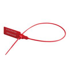 Пломбы пластиковые номерные, самофиксирующиеся, длина рабочей части 320 мм, красные, комплект 1000 шт.