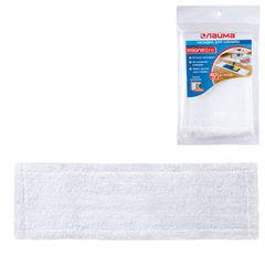 Насадка МОП плоская для швабры/держателя 40 см, карманы (ТИП К), микрофибра, упаковка, ЛАЙМА, 601476