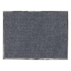 Коврик входной ворсовый влаго-грязезащитный, 90х120 см, толщина 7 мм, серый, VORTEX, 22093