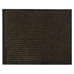 Коврик входной ворсовый влаго-грязезащитный 120х150 см, толщина 7 мм, коричневый, VORTEX, 22102