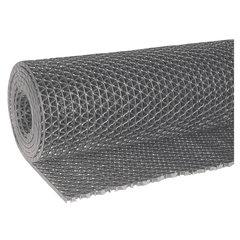 """Коврик-дорожка ячеистый грязезащитный """"Zig-Zag"""", 0,9х10 м, толщина 5 мм, ПВХ серый, В РУЛОНЕ, VORTEX, 22156"""