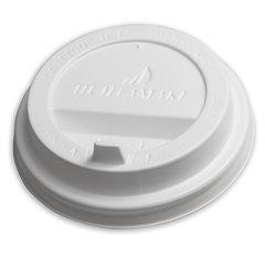 Одноразовая крышка для стакана 200-250 мл (d-80), КОМПЛЕКТ 100 шт., клапан-носик, белые, HUHTAMAKI, 8027