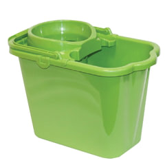 Ведро 9,5 л для уборки КОМПЛЕКТ с ОТЖИМОМ (сетчатый) пластик, зеленое (моп 602584,-585) IDEA, М2421