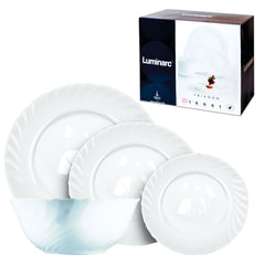 """Набор посуды столовый """"Trianon"""", 20 предметов, белое стекло, LUMINARC"""