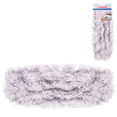 Насадка МОП плоская для швабры/держателя 40 см, карманы (ТИП К), хлопок (ворс 4,5 см), ЛАЙМА, 603115