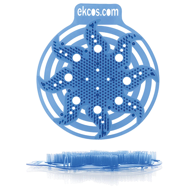 """Коврики-вставки для писсуара, ЭКОС (POWER-SCREEN), на 30 дней каждый, комплект 2 шт., аромат """"Мята"""", цвет синий"""