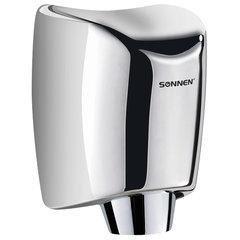 Сушилка для рук SONNEN HD-555, 1200 Вт, нержавеющая сталь, антивандальная, хром