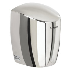 Сушилка для рук SONNEN HD-777, 1200 Вт, нержавеющая сталь, антивандальная, хром