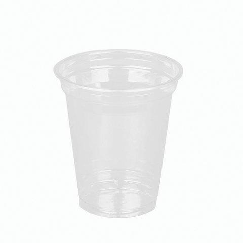 Одноразовые стаканы, комплект 50 шт., 300 мл, ПЭТ, кристально-прозрачные, для холодных напитков/десертов, СТИРОЛПЛАСТ