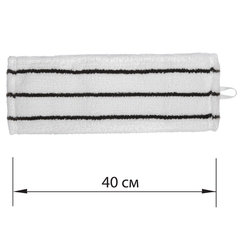 Насадка МОП плоская для швабры/держателя 40см, уши/карманы (У/К), микрофибра/скраб, ЛАЙМА EXPERT