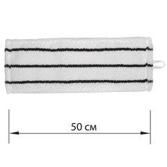 Насадка МОП плоская для швабры/держателя 50см, уши/карманы (У/К), микрофибра/скраб, ЛАЙМА EXPERT