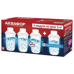 """Сменная кассета АКВАФОР """"В1005"""", защита от бактерий, для фильтров АКВАФОР, комплект 4 шт."""