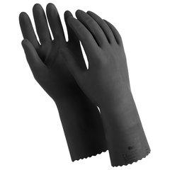 """Перчатки латексные MANIPULA """"КЩС-1"""", двухслойные, размер 9 (L), черные, L-U-03/CG-942"""