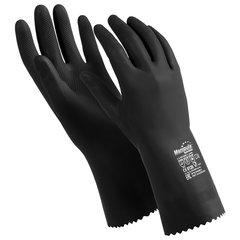 """Перчатки латексные MANIPULA """"КЩС-2"""", ультратонкие, размер 7-7,5 (S), черные, L-U-032/CG-943"""