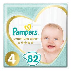 Подгузники 82 шт. PAMPERS (Памперс) Premium Care, размер 4 (9-14 кг)