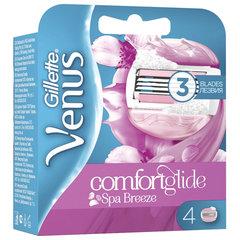 Сменные кассеты для бритья 4 шт. GILLETTE VENUS (Жиллет Винес) SPA Breeze, для женщин