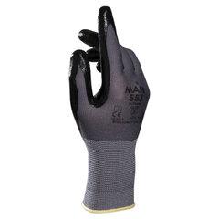 Перчатки текстильные MAPA Ultrane 553, нитриловое покрытие (облив), размер 8 (M), черные
