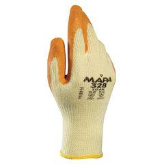 Перчатки текстильные MAPA Enduro/Titan 328, покрытие из натурального латекса (облив), размер 10 (XL), оранжевые/желтые
