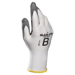 Перчатки текстильные MAPA KryTech 579, полиуретановое покрытие (облив), размер 10 (XL), белые