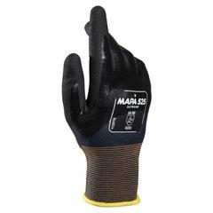 Перчатки текстильные MAPA Ultrane 525, нитриловое покрытие (облив), маслостойкие, размер 8 (М), черные