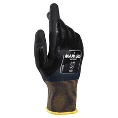 Перчатки текстильные MAPA Ultrane 525, нитриловое покрытие (облив), маслостойкие, размер 9 (L), черные