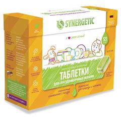 Таблетки для посудомоечных машин 55 шт. SYNERGETIC, биоразлагаемые, бесфосфатные