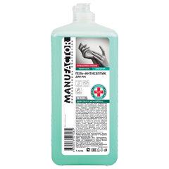 Антисептик-гель для рук спиртосодержащий (более 66%) 1 л MANUFACTOR, дезинфицирующий, флип-топ