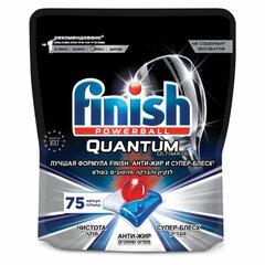 Таблетки для мытья посуды в посудомоечных машинах 75 шт. FINISH Quantum Ultimate, дой-пак
