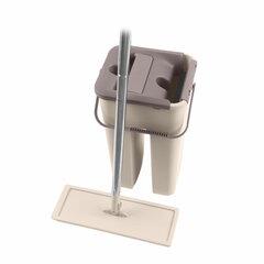 Набор для уборки: швабра, МОП, двухкамерное ведро с отжимом MILEY EASY MOP, сменная насадка МОП 607753