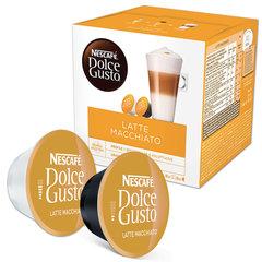Капсулы для кофемашин NESCAFE Dolce Gusto Latte Macchiato, натуральный кофе 8 шт. х 6,5 г, молочная капсула 8 шт. х 17,8 г