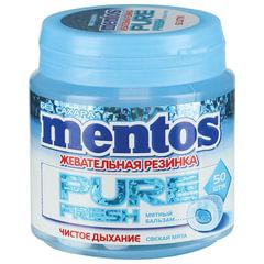 """Жевательная резинка MENTOS Pure Fresh (Ментос) """"Свежая мята"""", 100 г, банка"""