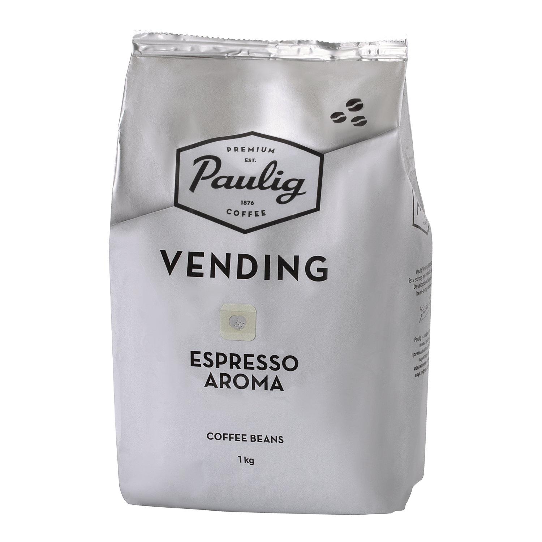 """Кофе в зернах PAULIG (Паулиг) """"Vending Espresso Aroma"""", натуральный, 1000 г, вакуумная упаковка, 16377"""