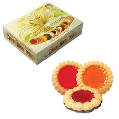 """Печенье БИСКОТТИ (Россия) """"Santa Bakery"""", ассорти 12 видов, сдобное, 750 г, картонная коробка"""