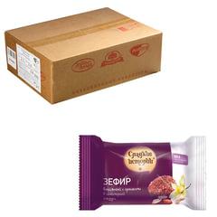 Зефир СЛАДКИЕ ИСТОРИИ ванильный в шоколадной глазури с орехами, весовой, 2 кг, гофрокороб