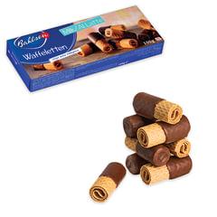 """Вафли BAHLSEN (Бальзен) """"Waffeletten Milk"""", вафельные трубочки в молочном шоколаде, 100 г, Германия"""