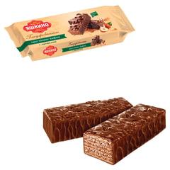 """Вафли ЯШКИНО """"Глазированные с орешками"""", с какао, фундуком и арахисом, 200 г"""