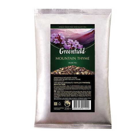"""Чай GREENFIELD (Гринфилд) """"Mountain Thyme"""", черный с чабрецом, листовой, 250 г, пакет"""
