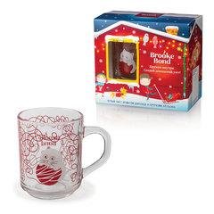 Промонабор: Чай BROOKE BOND (Брук Бонд), шоколад/апельсин, 50 г + кружка, набор, подарочная упаковка
