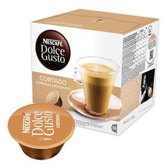 """Капсулы для кофемашин NESCAFE Dolce Gusto """"Cortado"""", натуральный кофе эспрессо с молоком, 16 шт. х 6 г"""